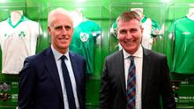 Mick McCarthy and Stephen Kenny. Photo: Stephen McCarthy/Sportsfile