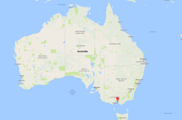 Stephen is running a sheep-shearing business on the Mornington Peninsula some 35 miles south of Melbourne. Image: Google Maps