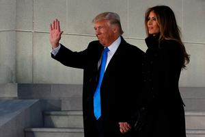 U.S. President-elect Donald Trump and his wife Melania take part in a Make America Great Again welcome concert in Washington, U.S. January 19, 2017. REUTERS/Jonathan Ernst