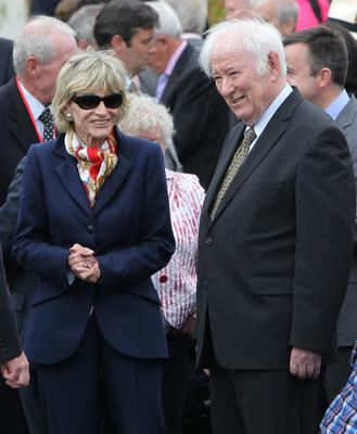 Jean Kennedy Smith and Seamus Heaney at the official opening of the visitor centre at the Kennedy Homestead, Dunganstown, Wexford in 2013