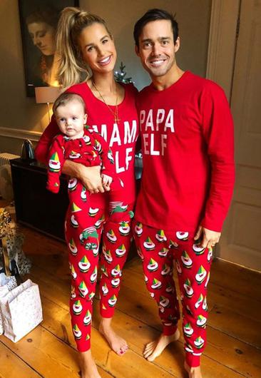 Vogue Williams and Spencer Matthews, pictured with baby son Theodore, spent Christmas at Carton House in Kildare. Picture: Instagram