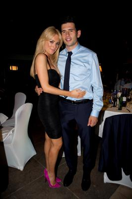 Dublins  Cian O'Sullivan and Danielle Byrne at the Winners Banquet in The Gibson Hotel