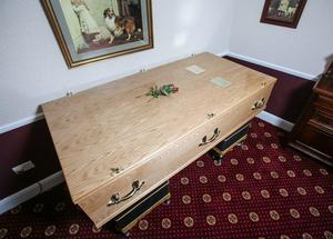 Victor and Elsie Bower were laid to rest side by side in a double coffin.