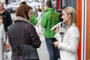 Fianna Fáil local election candidate Kate Feeney (right) on the canvass on Bank Holiday Sunday. Picture Conor McCabe Photography.