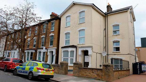 The scene in Wilberforce Road, near Finsbury Park, in north London after a one-year-old boy died and a girl of the same age was left in a critical condition in a flat.