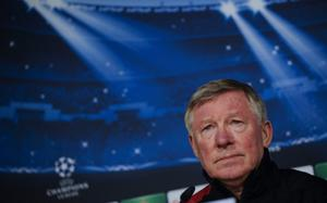 Manchester United's manager Alex Ferguso...Manchester United's manager Alex Ferguson gives a press conference at the Santiago Bernabeu stadium in Madrid on February 12, 2013, on the eve of the UEFA Champions League football match Real Madrid vs Manchester United.   AFP PHOTO / PEDRO ARMESTREPEDRO ARMESTRE/AFP/Getty Images