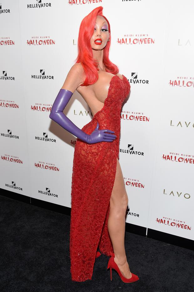 Heidi Klum attends Heidi Klum's 16th Annual Halloween Party sponsored by GSN's Hellevator And SVEDKA Vodka At LAVO New York on October 31, 2015 in New York City. (Photo by Nicholas Hunt/Getty Images for Heidi Klum)
