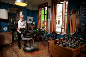 Shane Boyd of The Natural Cut hair studio on Wicklow Street in Dublin. Photo: Gerry Mooney