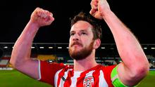 Ryan McBride was given the Derry City captain's armband in 2015. Photo: Matt Browne/Sportsfile