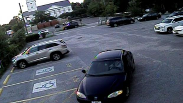 A car which police believe belongs to a suspect which police are searching for in connection with the shooting of several people at a church in Charleston, South Carolina is seen in a still image from CCTV footage released by the Charleston Police Department June 18, 2015. A white gunman was still at large after killing nine people during a prayer service at an historic African-American church in Charleston, South Carolina, the city's police chief said on Thursday, describing the attack as a hate crime. REUTERS/Charleston Police Department/Handout via Reuters      ATTENTION EDITORS - THIS PICTURE WAS PROVIDED BY A THIRD PARTY. REUTERS IS UNABLE TO INDEPENDENTLY VERIFY THE AUTHENTICITY, CONTENT, LOCATION OR DATE OF THIS IMAGE. THIS PICTURE IS DISTRIBUTED EXACTLY AS RECEIVED BY REUTERS, AS A SERVICE TO CLIENTS. EDITORIAL USE ONLY. NOT FOR SALE FOR MARKETING OR ADVERTISING CAMPAIGNS