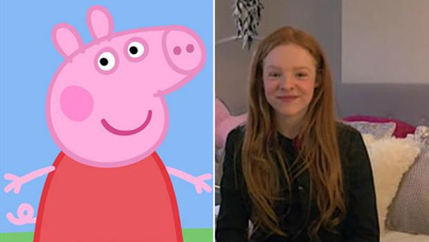 Harley Bird has voiced Peppa since she was five-years-old. Photo credit: BBC