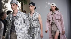 Models walk the runway during the Dior Homme Menswear Spring/Summer 2019 show as part of Paris Fashion Week on June 23, 2018 in Paris, France.  (Photo by Francois G. Durand/WireImage)