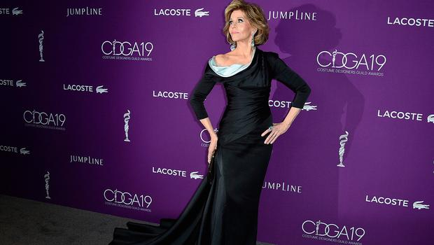 Jane Fonda arrives at the 19th Annual Costume Designers Guild Awards at the Beverly Hilton on Tuesday, Feb. 21, 2017, in Beverly Hills, Calif. (Photo by Jordan Strauss/Invision/AP)