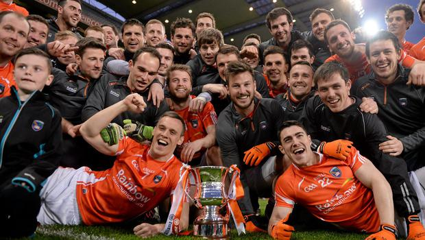 'Them players will not want for anything,' says Aaron Kernan of Kieran McGeeney's Armagh players. 'He will have all that in place. Their only job is to turn up, work hard and when the day comes they must perform.' Photo: Paul Mohan / SPORTSFILE