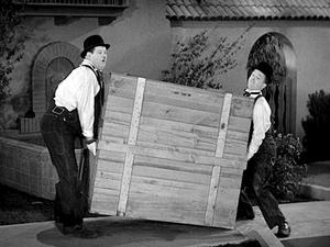 Laurel and Hardy, seen here in their Oscar-winning short The Music Box, drew a whole new generation of appreciative viewers when Talking Pictures TV aired a season of their films in 2018