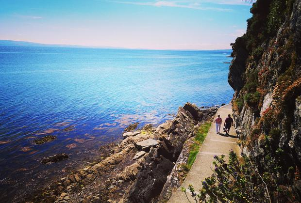 'This is my mum, dad and our dog walking in Moville Co.Donegal,' writes Aisling Kelly (Twitter: @AislingKelly2)