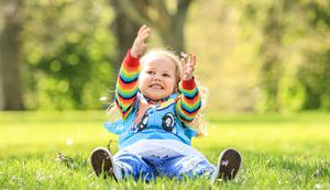 Happy out: Mina Darcy (4) from Arbour Hill enjoys the spring sunshine in the Phoenix Park in Dublin. Photo: Gerry Mooney