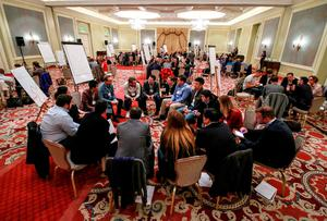 A view from the Brand X Roundtable discussion at the Four Seasons Hotel, Ballsbridge. Pic: Nick Bradshaw / Sportsfile.