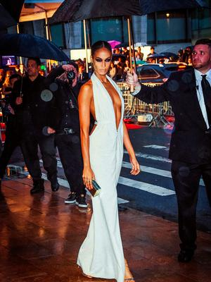NEW YORK, NY - JUNE 01:  (EDITORS NOTE: This image was altered using digital filters) Joan Smalls arrives at the 2015 CFDA Fashion Awards at Alice Tully Hall at Lincoln Center on June 1, 2015 in New York City.  (Photo by Mike Coppola/Getty Images)