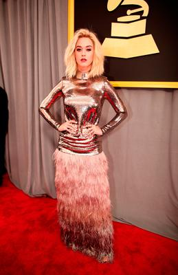 Singer Katy Perry attends The 59th GRAMMY Awards at STAPLES Center on February 12, 2017 in Los Angeles, California.  (Photo by Christopher Polk/Getty Images for NARAS)