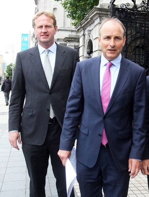 Different visions: Micheál Martin (right) and Jim O'Callaghan. Photo: Tom Burke
