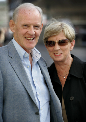 Beef baron: Larry Goodman and his wife Kitty in 2006