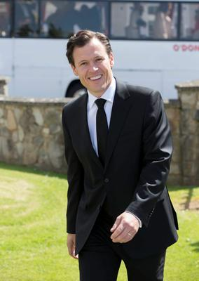Anton Savage pictured at Mairead Farrell and Louis Ronan's wedding in Tipperary. Picture Dylan Vaughan.