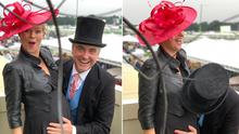 Cecelia Ahern and husband David Keoghan at Royal Ascot. Picture: Instagram
