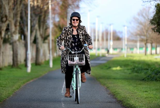 JOY RIDE: Writer Barbara Scully hopes cycling will keep her fit and happy. Photo: Steve Humphreys