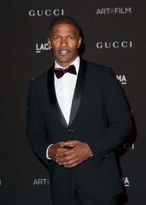 Actor Jamie Foxx arrives for the 2014 LACMA Art + Film Gala honoring film director Quentin Tarantino and artist Barbara Kruger