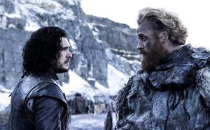 Kit Harington and Kristofer Hivju as Jon Snow and Tormund Giantsbane in Game of Thrones