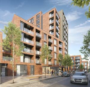 Plans: An artist's impression of the housing development at the former Bailey Gibson yard in Dublin 8