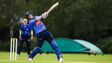Breaking boundary: Kevin O'Brien smashes a six for Leinster Lightning. Photo: Matt Browne/Sportsfile