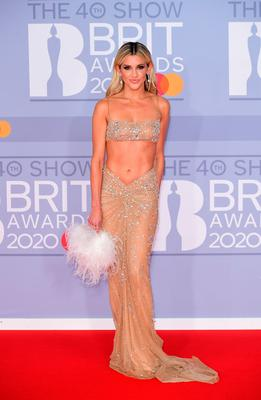 Ashley Roberts arriving at the Brit Awards 2020 held at the O2 Arena, London. PA Photo. Picture date: Tuesday February 18, 2020. See PA story SHOWBIZ Brits. Photo credit should read: Ian West/PA Wire