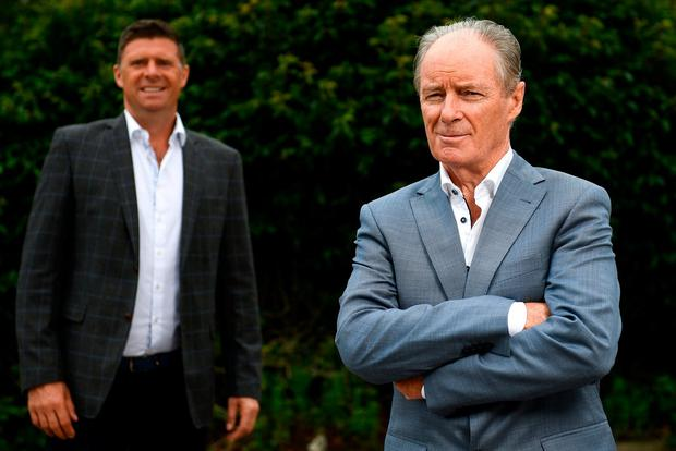 Influential: Brian Kerr (right) and Niall Quinn have been part of Virgin Media Sport's star line-up. Photo: Sportsfile