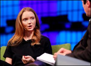 Model and Actress Lily Cole speaking at the Web Summit in Dublin