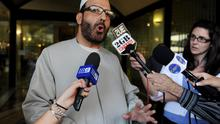 File photo of Man Haron Monis, believed to be the gunman inside the Lindt Cafe in Martin Place. AP Photo/AAP Image, Dean Lewins