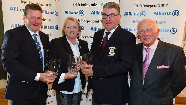 Runners-up: Slieve Russell's Albert Martin, Margaret Martin and Cathal Brady with event director Cecil Whelan