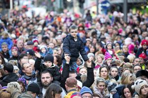 A huge crowd turned out for the switching on of Limerick Christmas Lights on Bedford Row in the city. Pic Sean Curtin Photo.