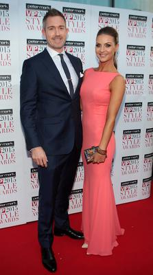 Dave Murphy and Laura Scanlon on the Red Carpet at The Peter Mark VIP Style Awards 2015 at The Marker Hotel,Dublin. Pictures Brian McEvoy