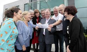 Let the party begin: Peadar Tóibín enjoyed winning elections with former Sinn Féin colleagues but has launched his own party. Photo: Tom Burke