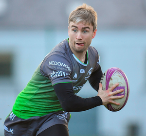 Angus Lloyd during Connacht Rugby squad training in Galway. Photo: Seb Daly/Sportsfile