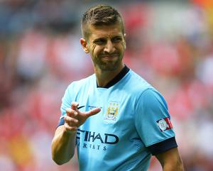 Nastasic, 21, has fallen out of favour at City under Pellegrini and has not featured since the Community Shield clash against Arsenal on August 10.