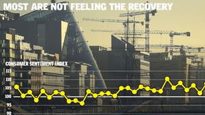Cranes may be rising on the Dublin skyline, but economic recovery has been slower to reach the rest of Ireland