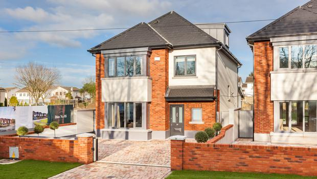 Desirable: Each of the Dún na Rí homes has a front cobble-locked driveway that accommodates two cars and is secured by electric sliding gates.