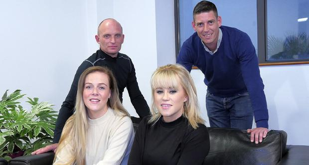 John Egan, David Murray, Alice Lacey and Emma McCormack (back to front, left to right)