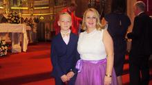 Siobhan O'Neill White with her son Mitchell (13)