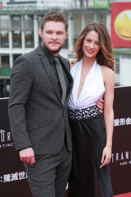 PARTNERS: Jack has been engaged to Madeline Mulqueen for six years and they worked together on his new film. Picture: Getty