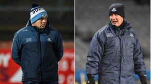 Jim Gavin (right) and Dessie Farrell are two of many managers to emerge from Dublin's 1995 All-Ireland-winning team. Image credit: Sportsfile.