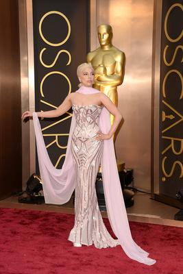 Recording artist Lady Gaga attends the Oscars held at Hollywood & Highland Center on March 2, 2014 in Hollywood, California.  (Photo by Jason Merritt/Getty Images)